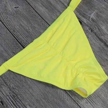 Women Sexy Summer Pure Color Lemon ..